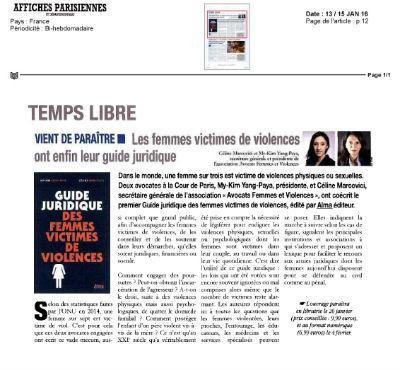 Guide juridique des femmes victimes de violences Affiches parisiennes